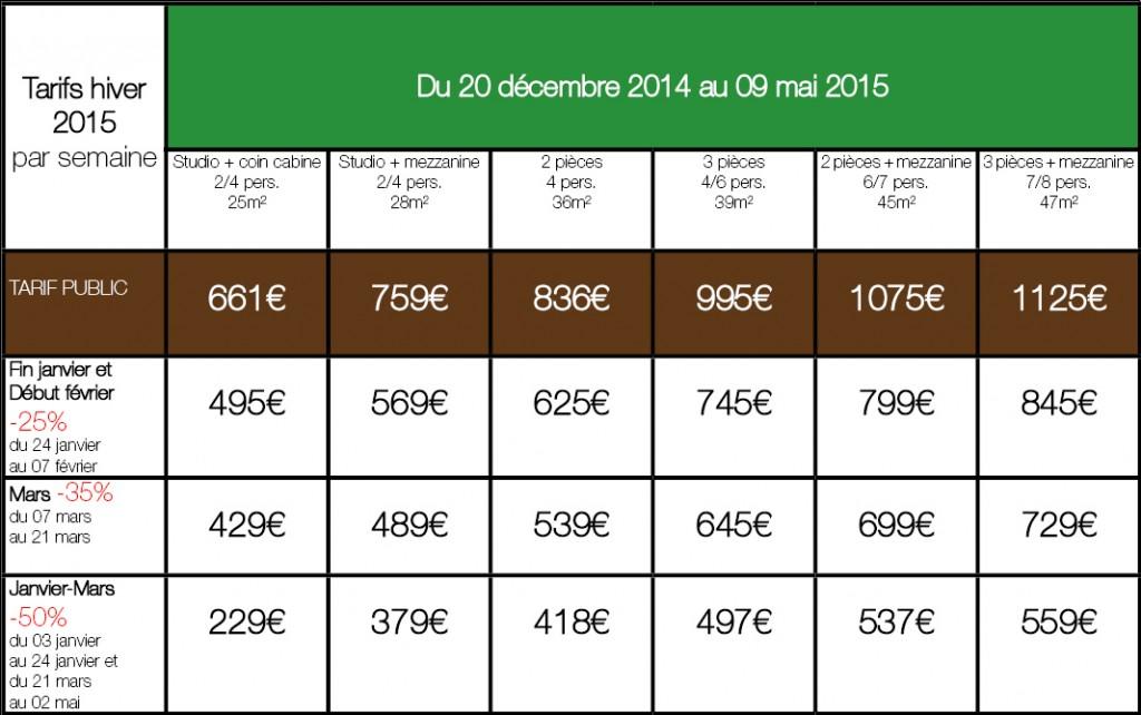 tarif public hiver 2015